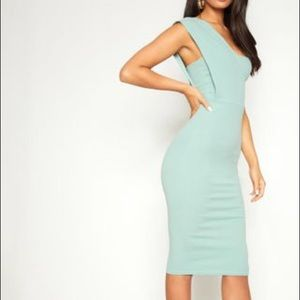 PLT One shoulder midi dress